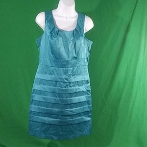 B wear too! teal sleeveless layer ruffle dress